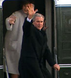 FMR. President Bush waves goodbye to the Nation.