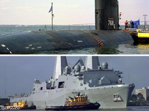 USS HARTFORD and USS NEW ORLEANS